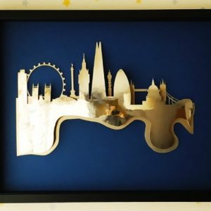 Aluminiumart aluminium London skyline art framed