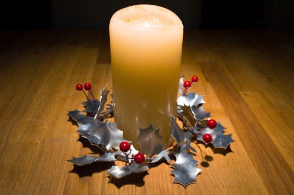aluminiumart holly table decoration aluminium Christmas gift