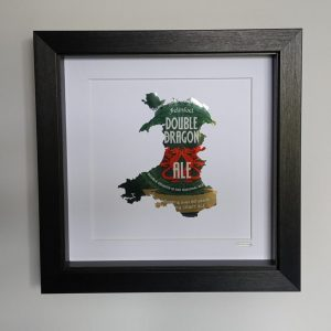Aluminiumart aluminium can art Wales Felinfoel framed map double dragon
