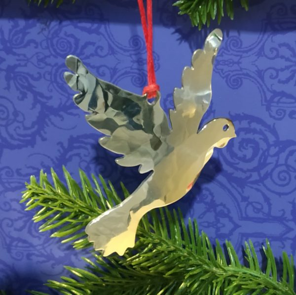 Aluminiumart aluminium tree decoration dove